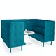 Teal QT Sofa Booth,Teal,hi-res
