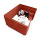 Brick QT Sofa Booth,Brick,hi-res