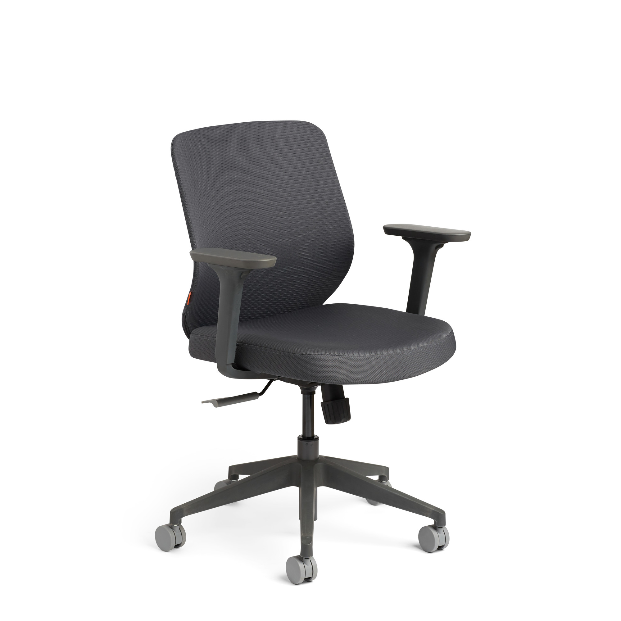 Dark Gray Max Task Chair Mid Back Charcoal Frame