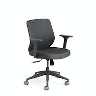 Dark Gray Max Task Chair, Mid Back, Charcoal Frame,Dark Gray,hi-res