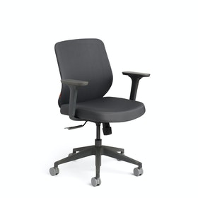 Dark Gray Max Task Chair, Mid Back, Charcoal Frame,Dark Gray,hi-res