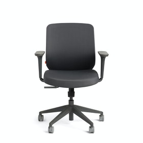 Dark Gray Max Task Chair, Mid Back, Charcoal Frame
