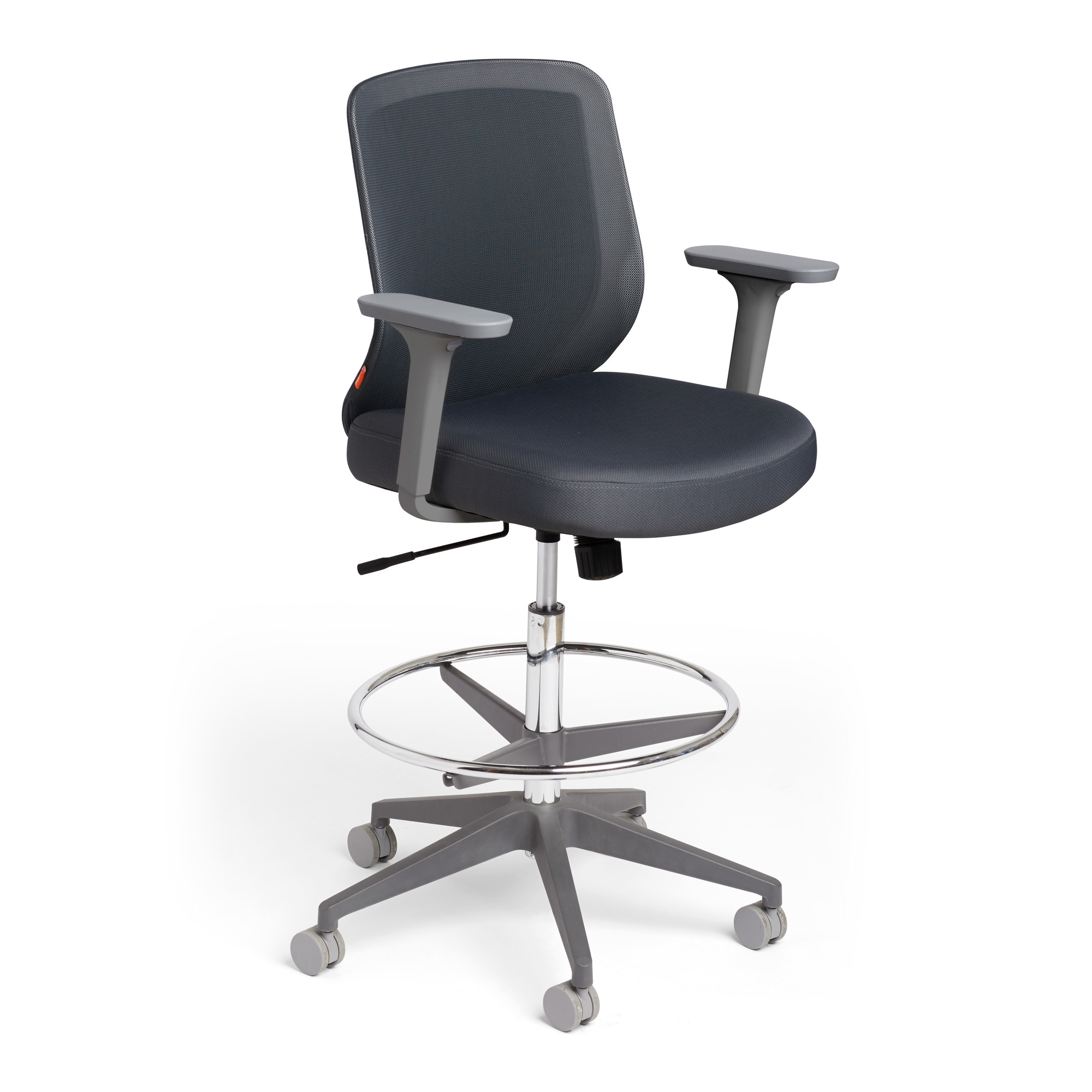 Dark Gray Max Drafting Chair, Mid Back, Charcoal Frame,Dark Gray,hi.  Loading Zoom