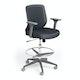 Dark Gray Max Drafting Chair, Mid Back, Charcoal Frame,Dark Gray,hi-res