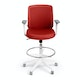 Brick Max Drafting Chair, Mid Back, White Frame,Brick,hi-res