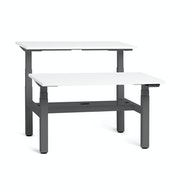 Series L Adjustable Height Double Desk for 2, Charcoal Legs,,hi-res