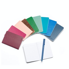 Mini Medley Assorted Jewel Tones Soft Cover Notebooks, Set of 10