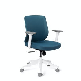 Slate Blue Max Task Chair, Mid Back, White Frame
