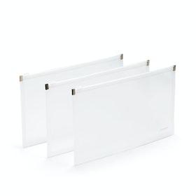 Clear Small Zip Folios, Set of 3,,hi-res