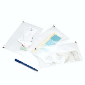 Clear Small Zip Folios, Set of 3