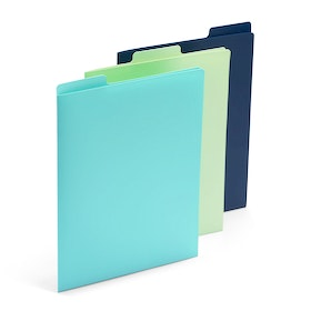 Aqua, Mint + Navy Vertical File Folders, Set of 3,,hi-res