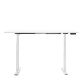 Series L Adjustable Height Table, White Legs