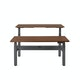 "Series L Adjustable Height Double Desk for 2, Walnut, 57"", Charcoal Legs,Walnut,hi-res"