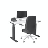 Series L Adjustable Height Single Desk, Charcoal Legs,,hi-res