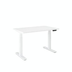 Series L Adjustable Height Single Desk, White Legs