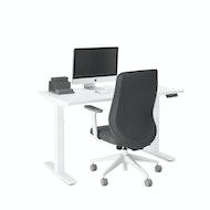 Series L Adjustable Height Single Desk, White Legs,,hi-res