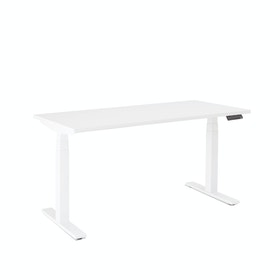 "Series L Adjustable Height Single Desk, White, 57"", White Legs"