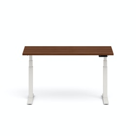 Series L Adjustable Height Single Desk, White Legs