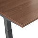 "Series L Adjustable Height Double Desk for 6, Walnut, 57"", Charcoal Legs,Walnut,hi-res"