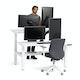 "Series L Adjustable Height Double Desk for 2, White, 57"", White Legs,White,hi-res"