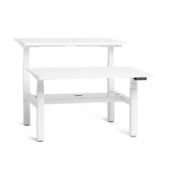 "Series L Adjustable Height Double Desk for 2, White, 47"", White Legs,White,hi-res"