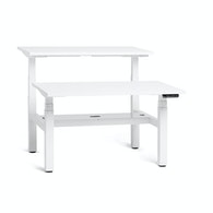 "Series L Adjustable Height Double Desk for 2, White, 47"", White Legs,White,hi-res"