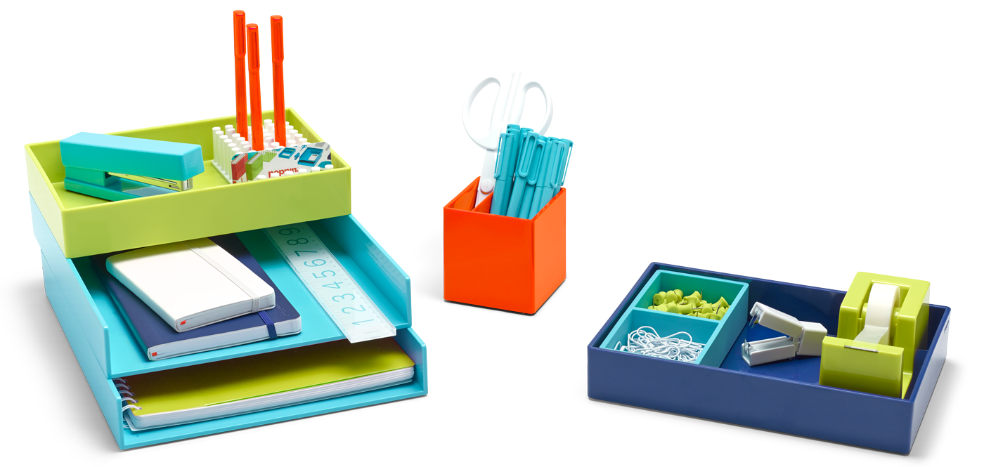 Colorful Desk Accessories Poppin Poppin Shop Organizational Trays